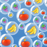 super bubble pop fruit drop game