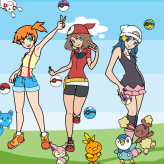 pokemon girls dress up game