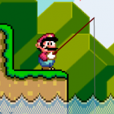 super mario fishing game