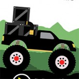 monster truck: forest delivery game