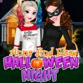 anna and elsa halloween night game