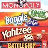 4 Games Fun Pack: Monopoly Boggle Yahtzee Battleship game