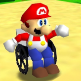 Super Wheelchair Mario game