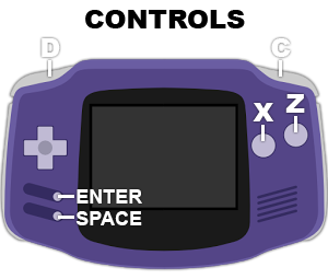 game boy advance controls