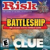 3-in-1: risk, battleship, clue game