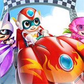 happy superman racing game