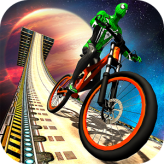 superhero bmx space rider game