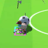 rolling soccer game