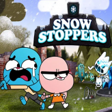 snow stoppers: amazing world of gumball game