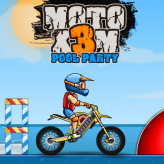 moto x3m 5: pool party game