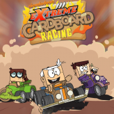 loud house: extreme cardboard racing game