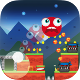 ball hero adventure: red bounce ball game