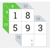 kakuro game: cross sums game