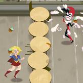 super hero girls: food fight game