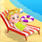 baby hazel at beach game